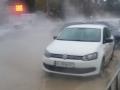 На Караваевых дачах в Киеве прорвало трубу с кипятком