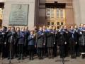 День рождения гимна в украинских городах отметили флешмобом