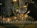 В Тернополе боец АТО принес к Сбербанку венок