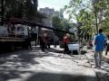 В центре Киева авто провалилось под асфальт