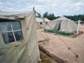Российские солдаты из-за холодов жгут палатки на учениях