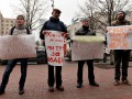 На акцию в поддержку знаменитого киевского пивзавода пришли четыре человека