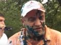 Корректировщика обстрела Мариуполя облили зеленкой и соком