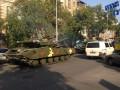 По центру Киева снова проехала военная техника