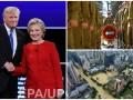 Неделя в фото: Дебаты Клинтон и Трампа, прощание с Пересом и наводнение в Китае