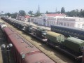 В Крым через Керчь завезли колонны военной техники из РФ