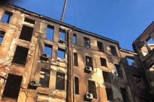 Пожар в Одессе: Один из спасателей в коме