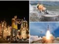 День в фото: Японский музыкант, собака-серфер и запуск спутника