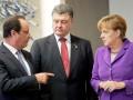 Порошенко, Меркель и Олланд настаивают на безусловном прекращении огня в Украине