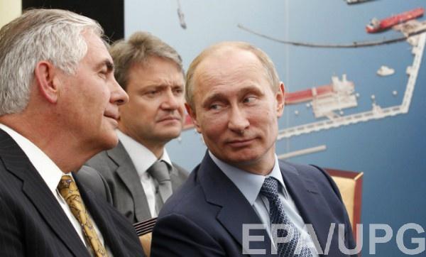 Путин и Тиллерсон в 2012 году