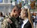 В Киев из зоны АТО вернулись бойцы батальона Азов