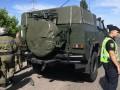 В Харьковской области колонна военных машин попала в ДТП