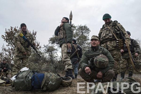 Украинские военные под Горловкой