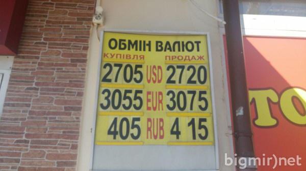 На теневом рынке в Украине в четверг утром доллар можно купить по 27,20 грн