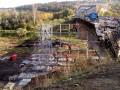 В Станице Луганской строят временный обходной мост