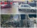 День в фото: Киев заливает дождем, а в зоне АТО поджигают фуры с контрабандой