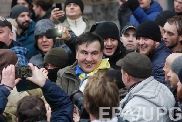 Освобожденный своими сторонниками Саакашвили призвал к новому Майдану