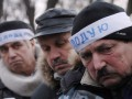 Часть голодающих под Кабмином чернобыльцев намерены уехать домой