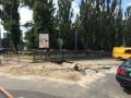На бульваре Шевченко в Киеве провалился асфальт (фото, видео)