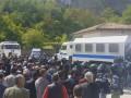 В Бахчисарае оккупантов встретили криками
