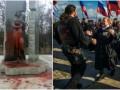 Итоги выходных: вандализм в Киеве и митинги в честь оккупации Крыма