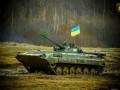 На Донбассе подорвался БМП с украинскими военными