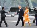 Трамп и Абэ посетили японский боевой корабль