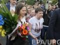 Савченко с сестрой посетила комитеты Верховной Рады