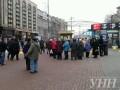 На Крещатике люди начали собираться на акцию в честь Дня Достоинства