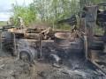 Опубликованы фото с места обстрела грузовика ВСУ на Луганщине