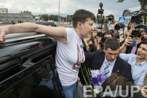 Надежда Савченко в Украине: фоторепортаж