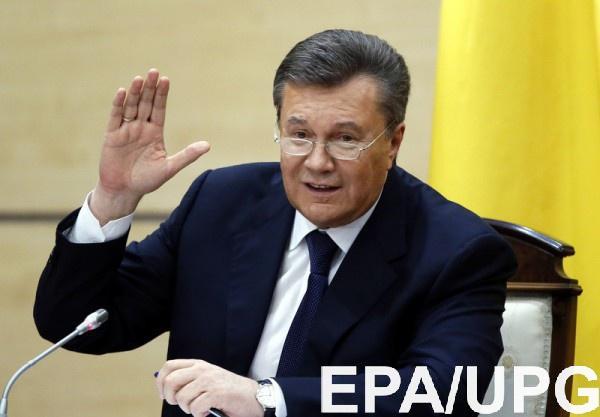 Беглый президент Виктор Янукович