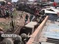В пригороде Найроби сошедший с рельсов товарный поезд врезался в жилой квартал