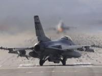 На аэродроме в США разбился истребитель F-16
