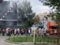 В Киеве горел супермаркет, людей эвакуировали