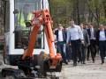 Кличко проверил ход ремонтных работ в парке Победа