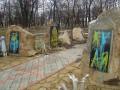 В Перевальске облили краской мемориал сепаратистам