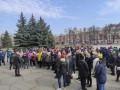 В Полтаве вновь из-за локдауна митингуют предприниматели