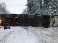 В России перевернулся автобус с украинцами: 14 пострадавших