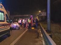 Под Киевом Daewoo влетел в людей, которые толкали авто