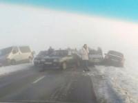 Во Львовской области из-за тумана столкнулись 7 автомобилей