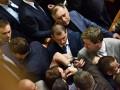 В Раде произошла потасовка из-за депутата, который назвал боевиков ЛНР героями