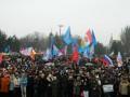 В Одессе тысячи людей собрались под российскими и советскими флагами