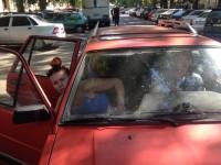 В центре Одессы поймали авто с георгиевской лентой