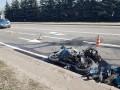 Полицейский на конфискованном мотоцикле разбил три авто