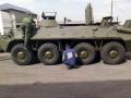 На Донбассе нашли похищенный пять лет назад БТР
