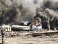На нефтебазе под Киевом продолжает гореть одна емкость с горючим