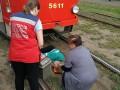 В Киеве женщина попала под трамвай