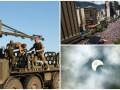 День в фото: Учения в Черниговской области, протесты в Венесуэле и солнечное затмение в Южной Африке