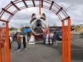 В Киеве установили пятиметровую статую собаки